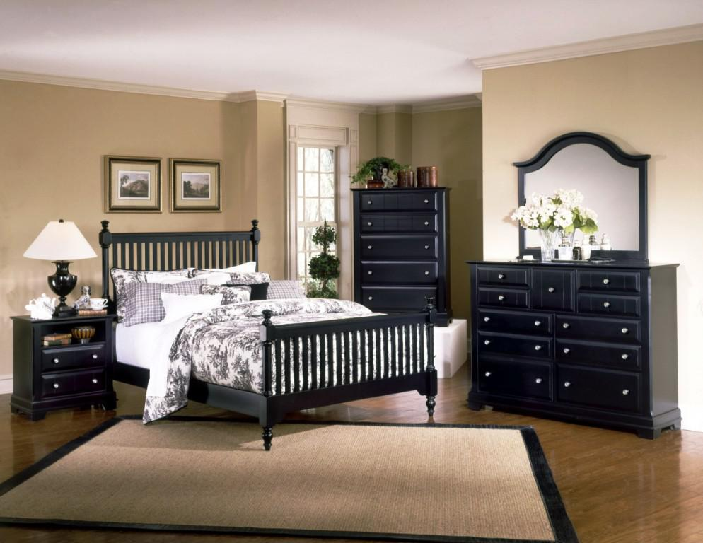 bedroom furniture feather black photo - 10