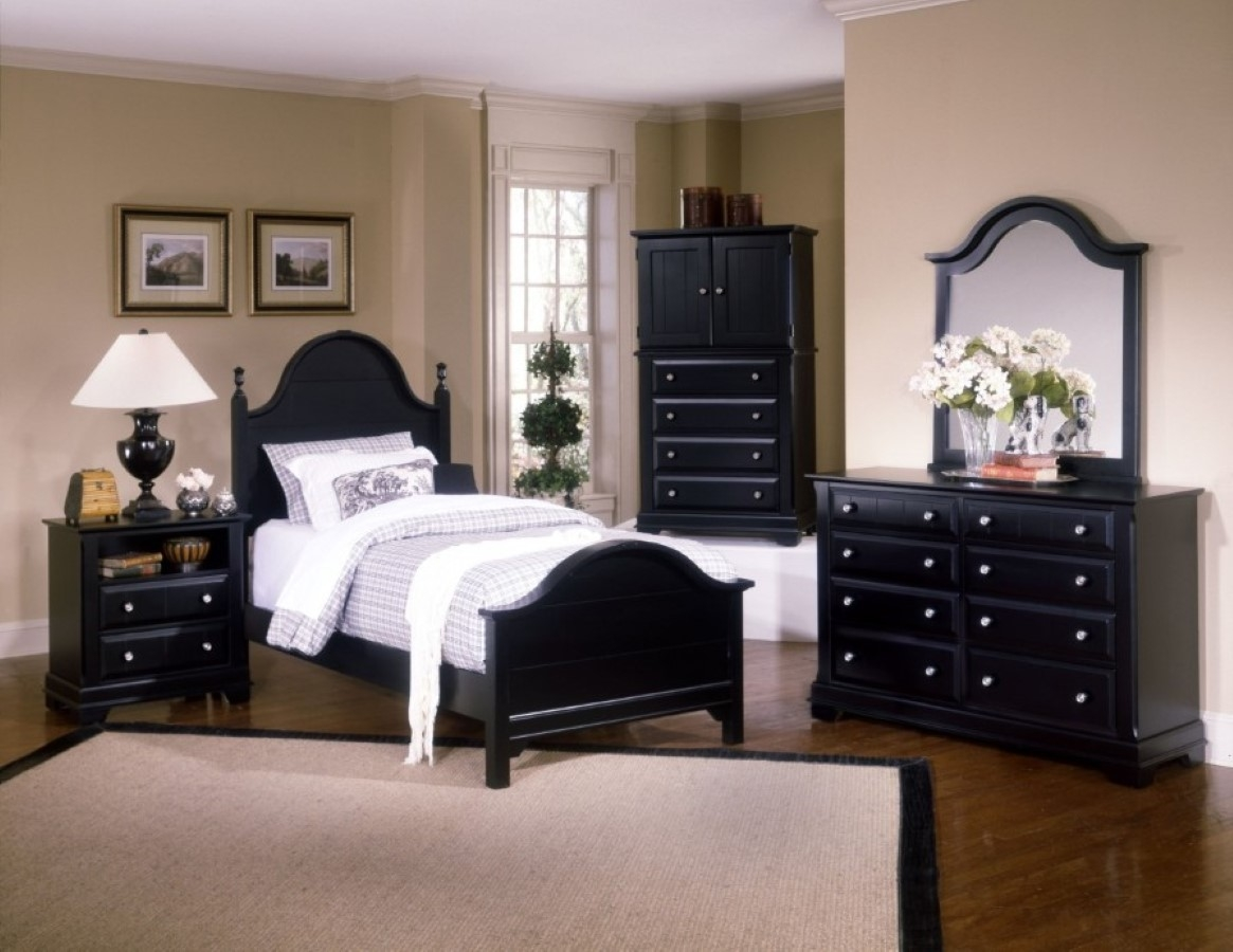 bedroom furniture feather black photo - 6