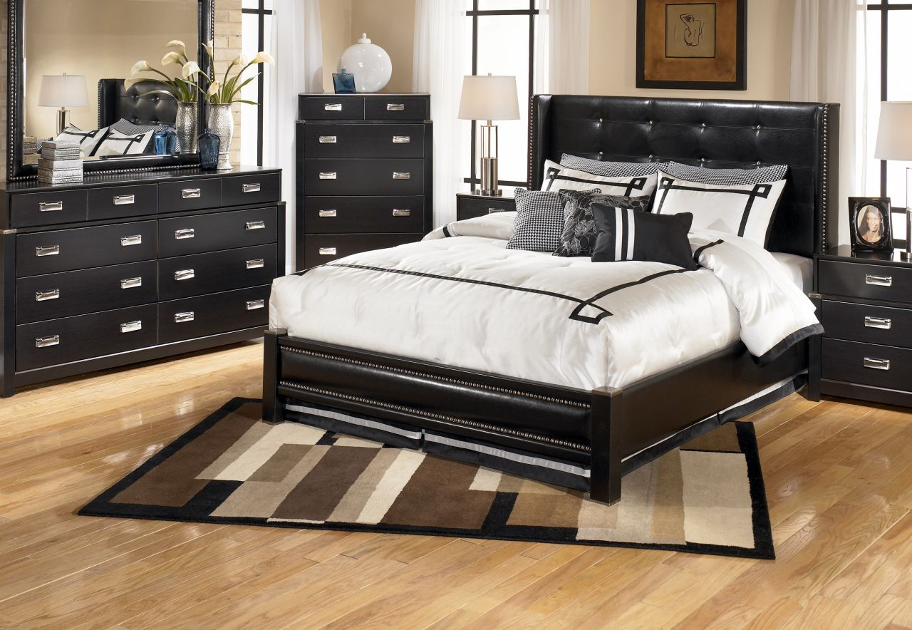 bedroom furniture feather black photo - 8