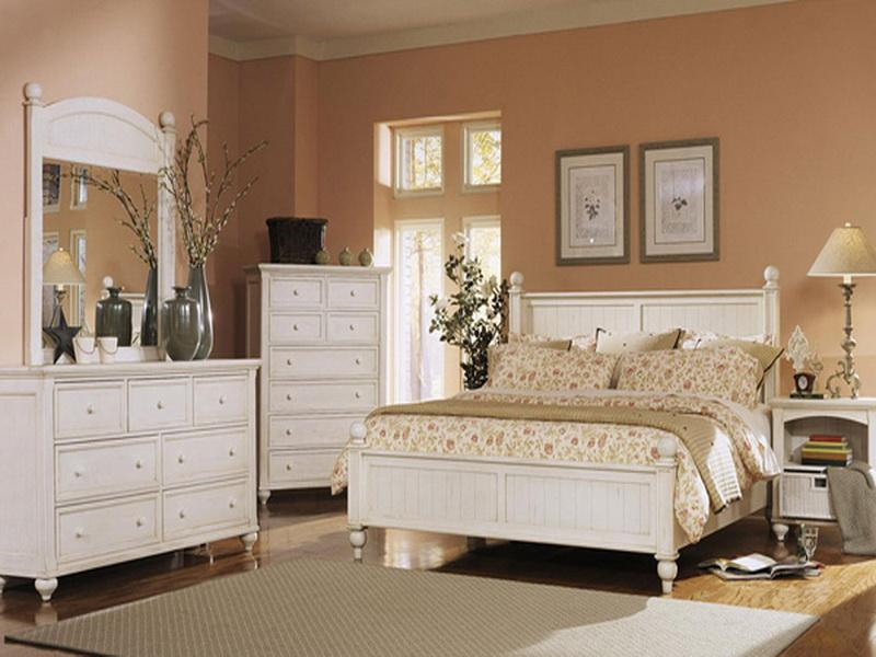 bedroom with white furniture decorating ideas photo - 1