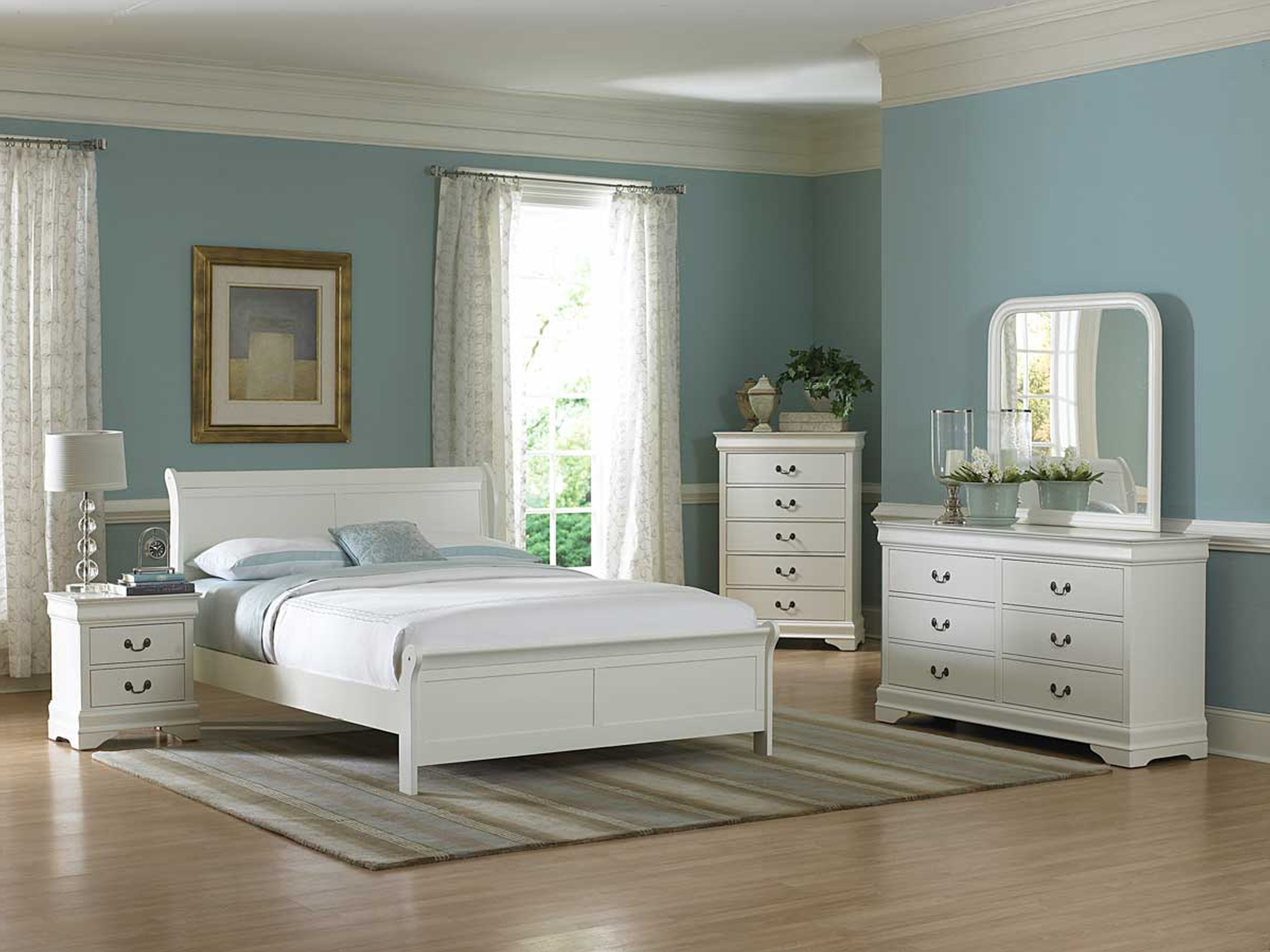 bedroom with white furniture decorating ideas photo - 10