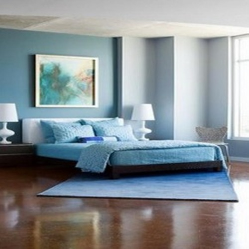 blue and white bedroom decorating ideas photo - 9