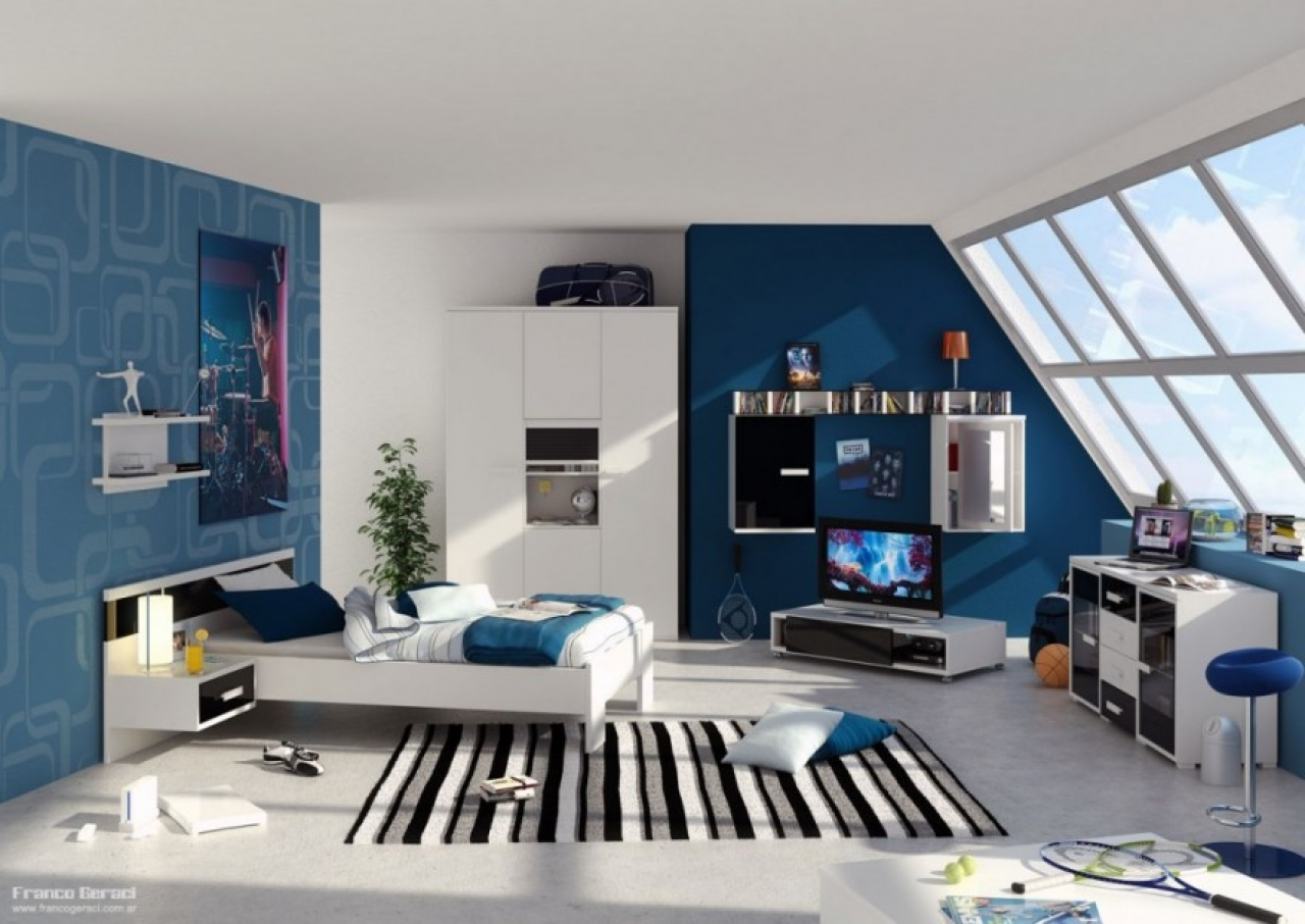 boys room with white furniture photo - 10