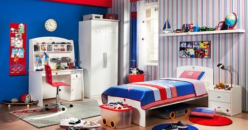 boys room with white furniture photo - 2