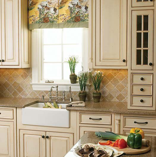 french country kitchen cabinets photo - 8