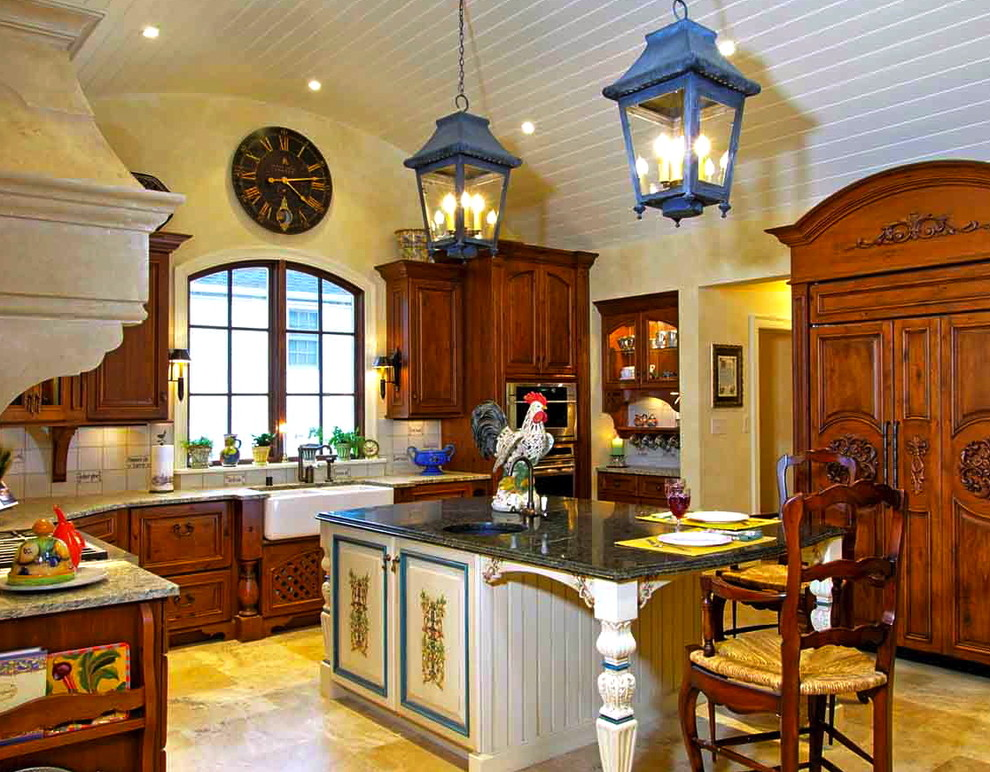 french country kitchen fixtures photo - 3