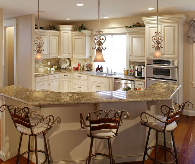 french country kitchen fixtures photo - 4
