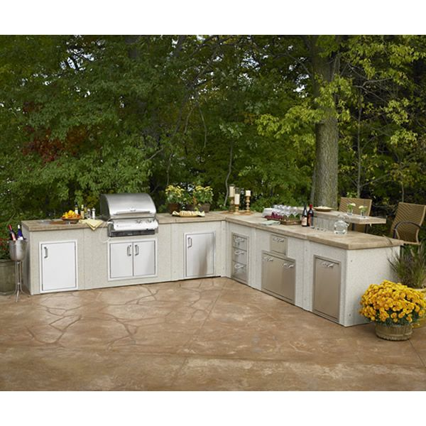 l shaped outdoor kitchen plans photo - 10