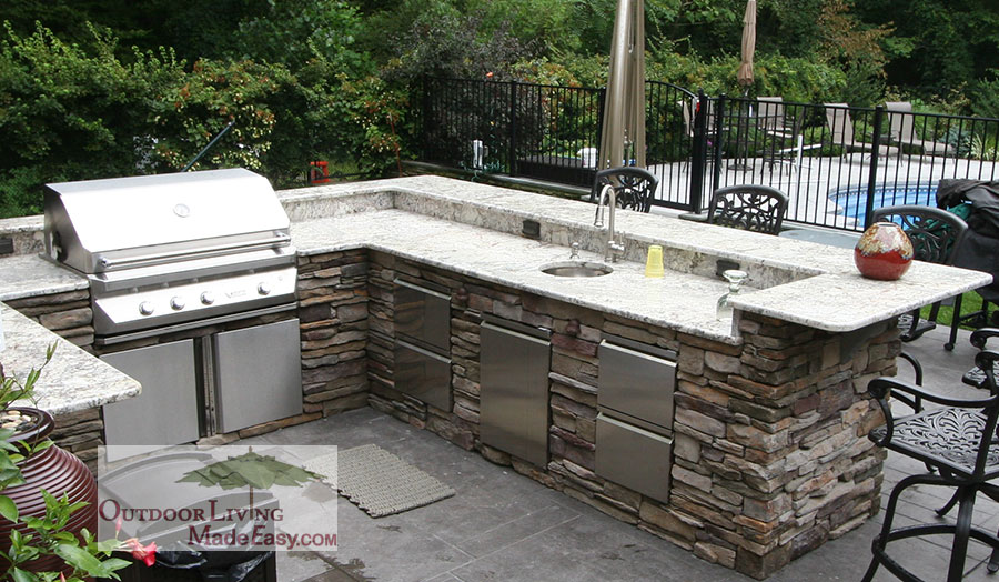 l shaped outdoor kitchen plans photo - 4