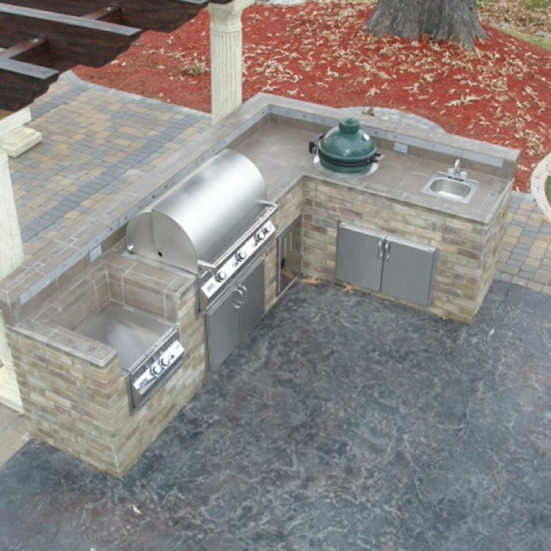 l shaped outdoor kitchen plans photo - 8