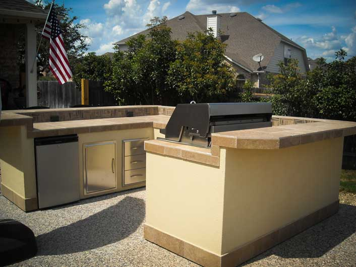 l shaped outdoor kitchen plans photo - 9
