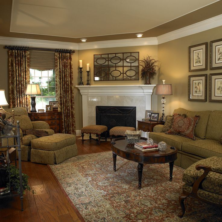 living room furniture ideas+fireplace photo - 10