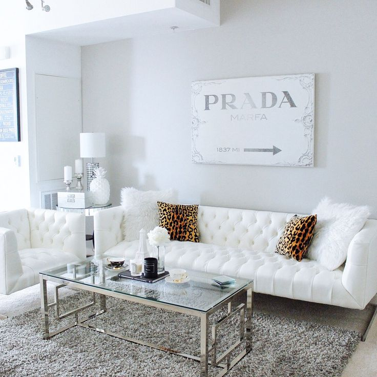living room with white furniture photo - 3
