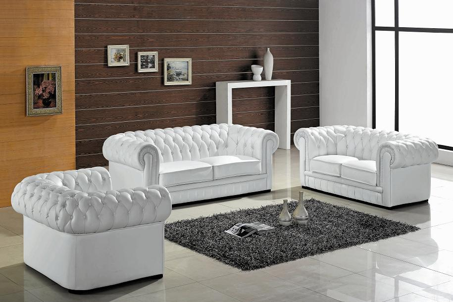 living room with white furniture photo - 9