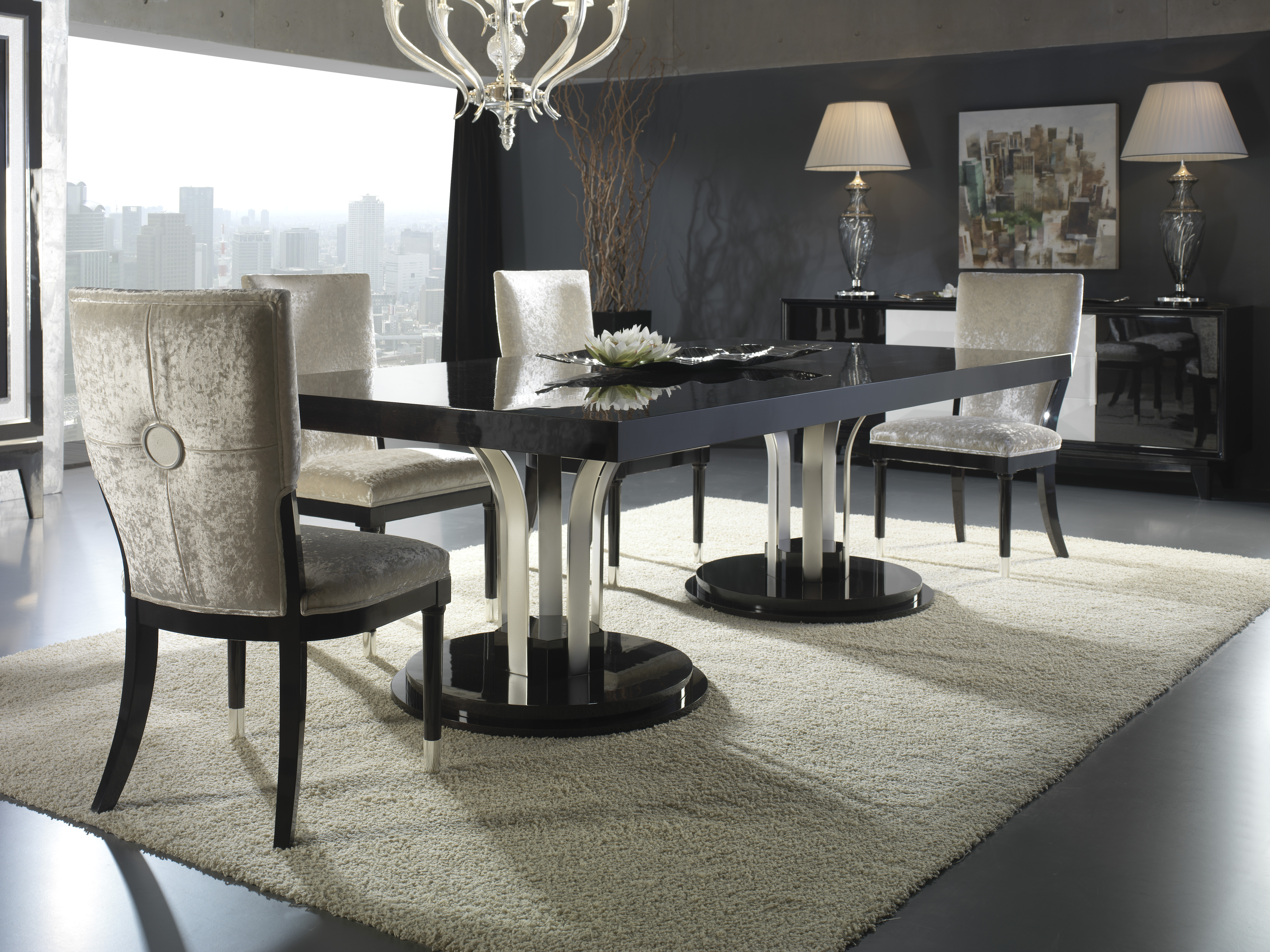 modern classic dining room furniture photo - 2
