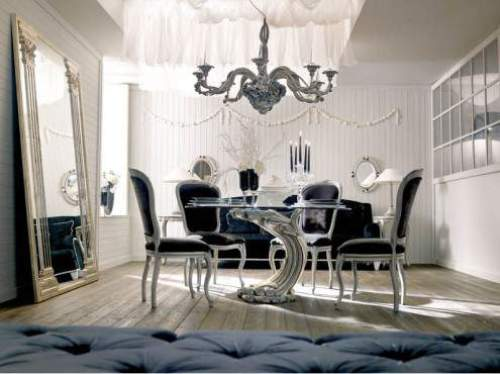 modern classic dining room furniture photo - 6
