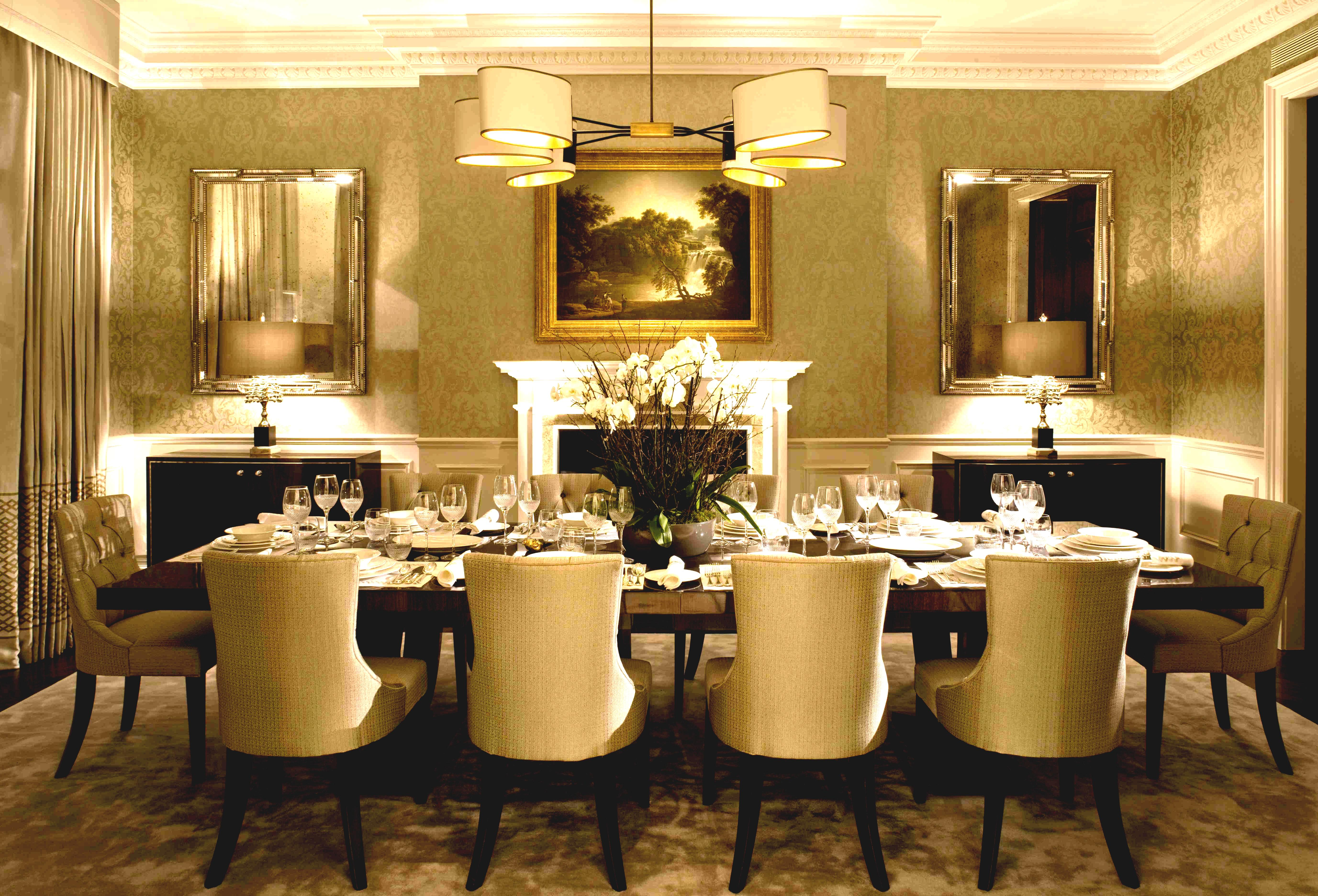 modern classic dining room furniture photo - 9
