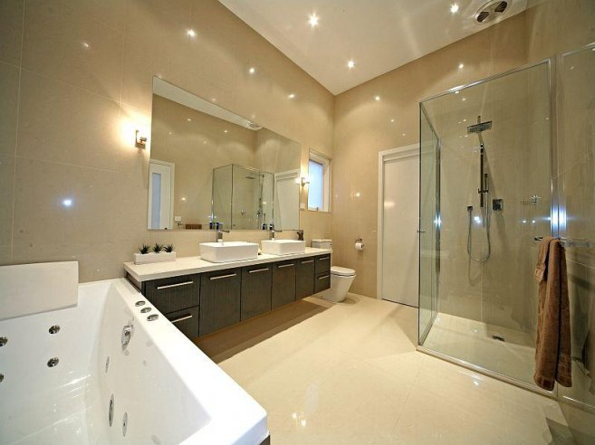 modern home bathroom design photo - 2