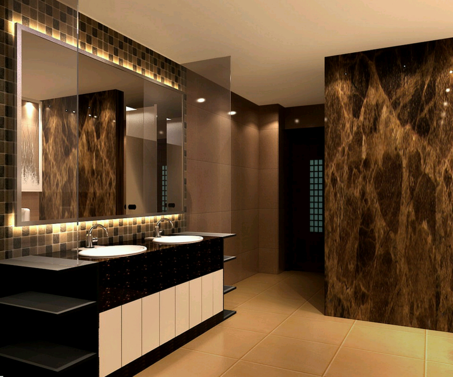modern home bathroom design photo - 3