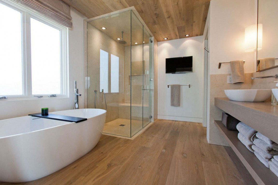 modern home bathroom design photo - 7