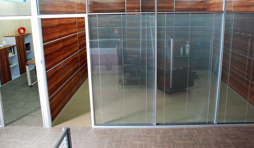 office space with glass walls photo - 6