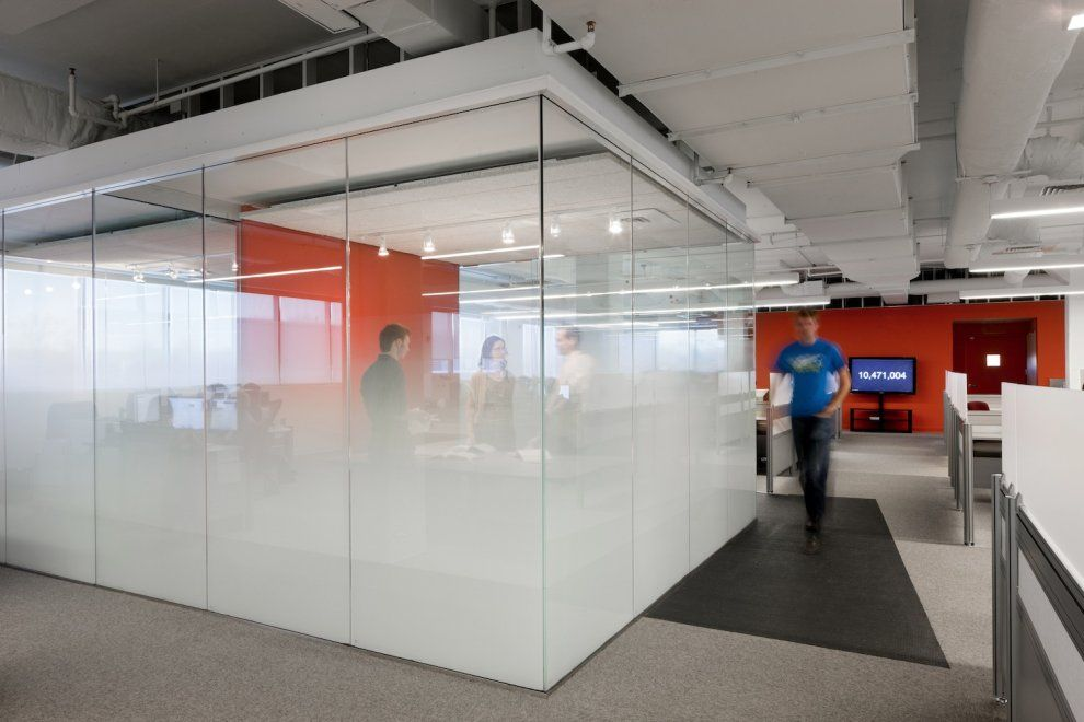 office space with glass walls photo - 9