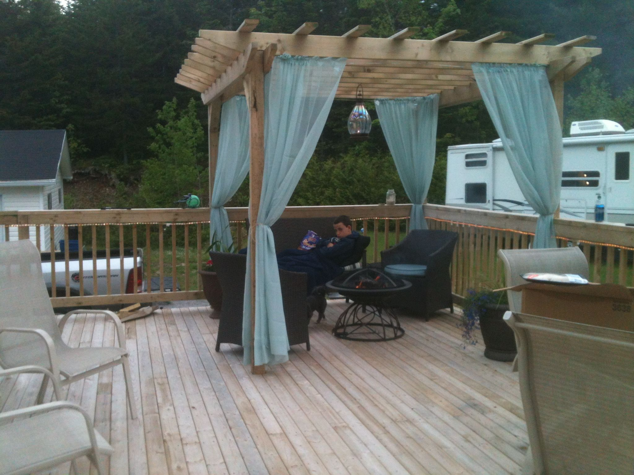 outdoor curtains for hot tub photo - 3