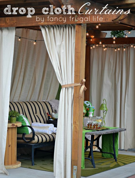 outdoor curtains for hot tub photo - 4
