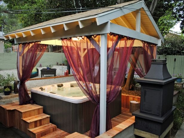 outdoor curtains for hot tub photo - 8