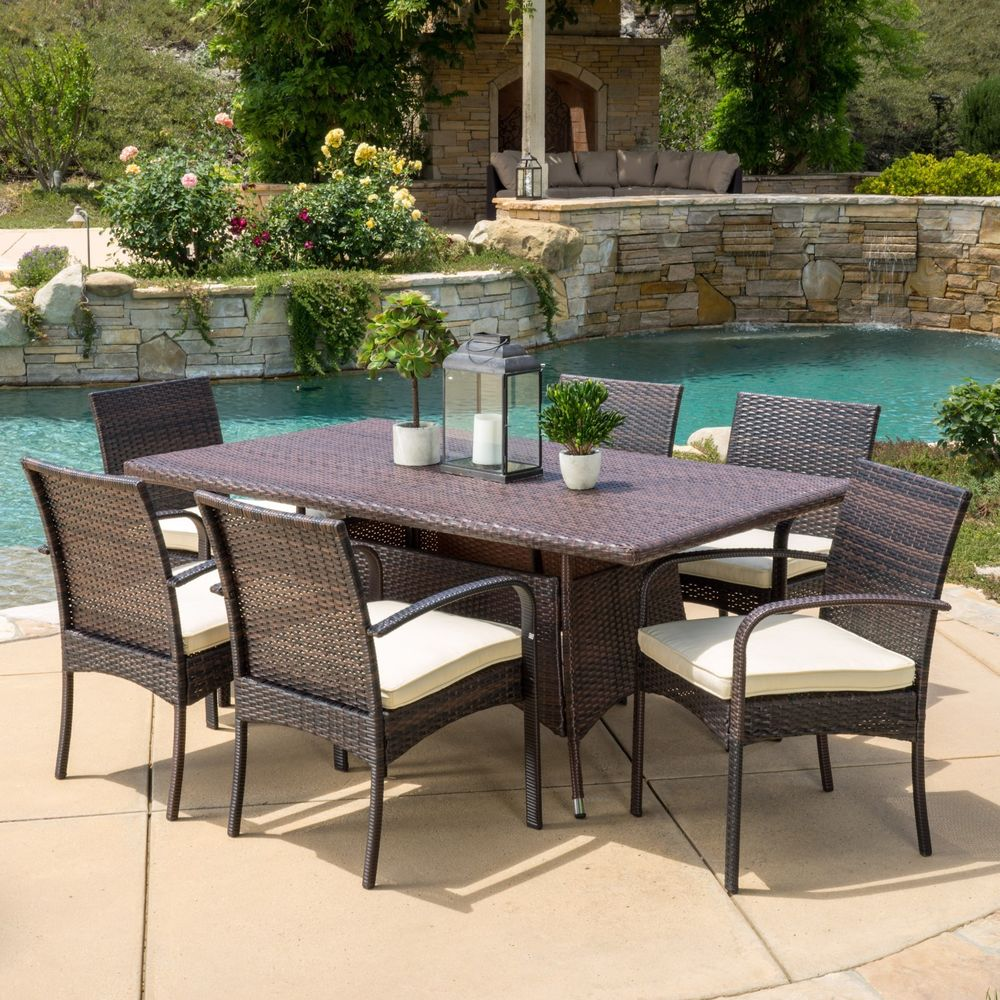 outdoor dining sets for 4 photo - 1