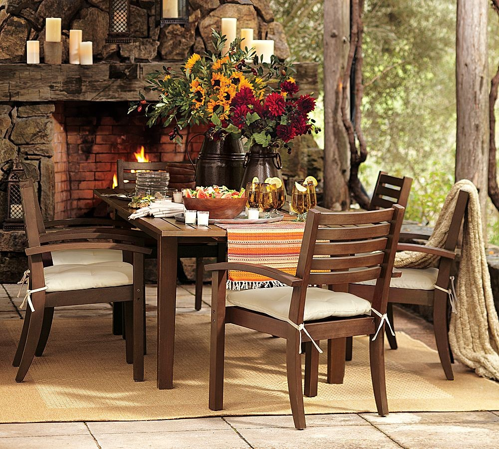 outdoor dining sets pottery barn photo - 3