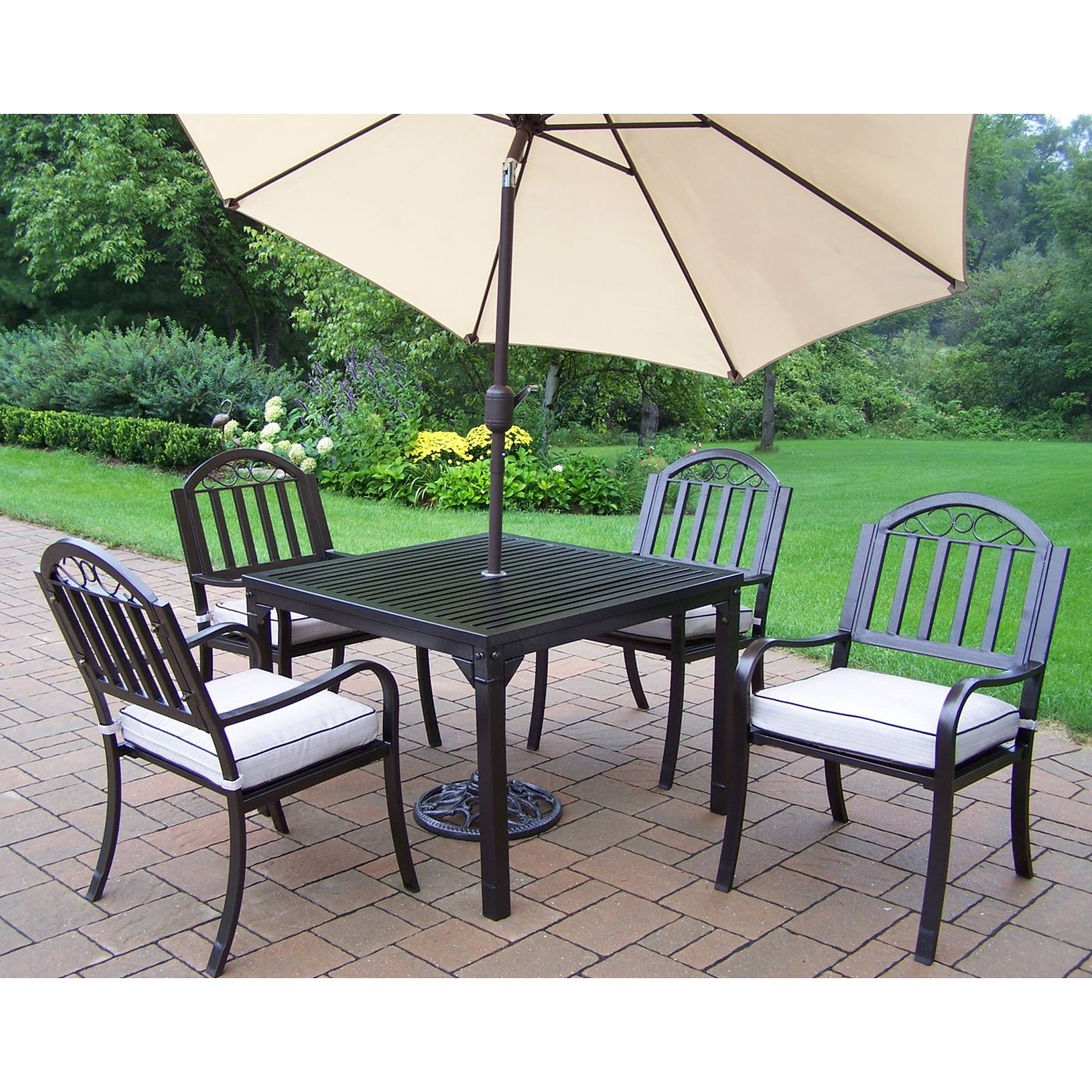 outdoor dining sets with umbrella photo - 3