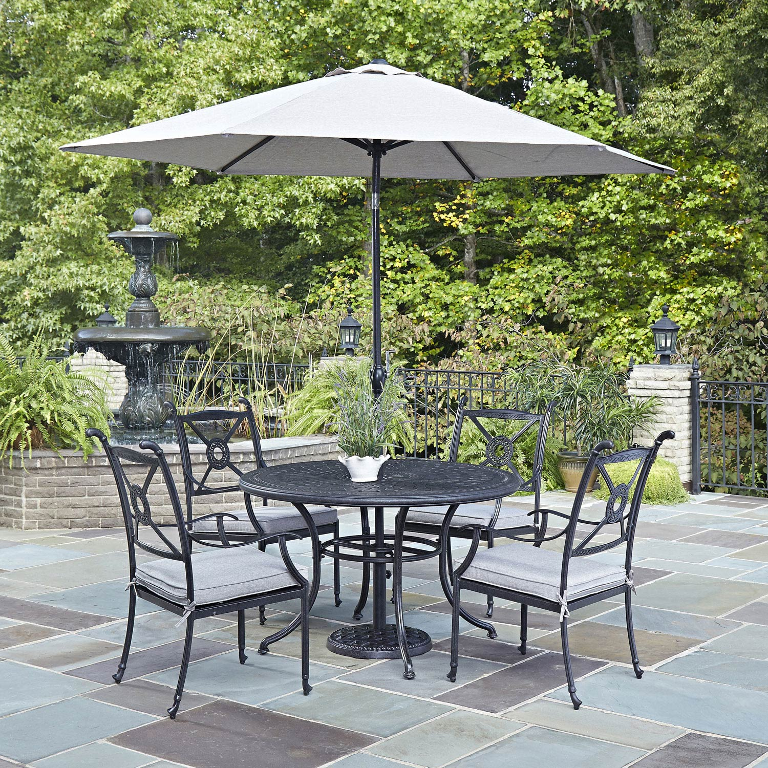 outdoor dining sets with umbrella photo - 5
