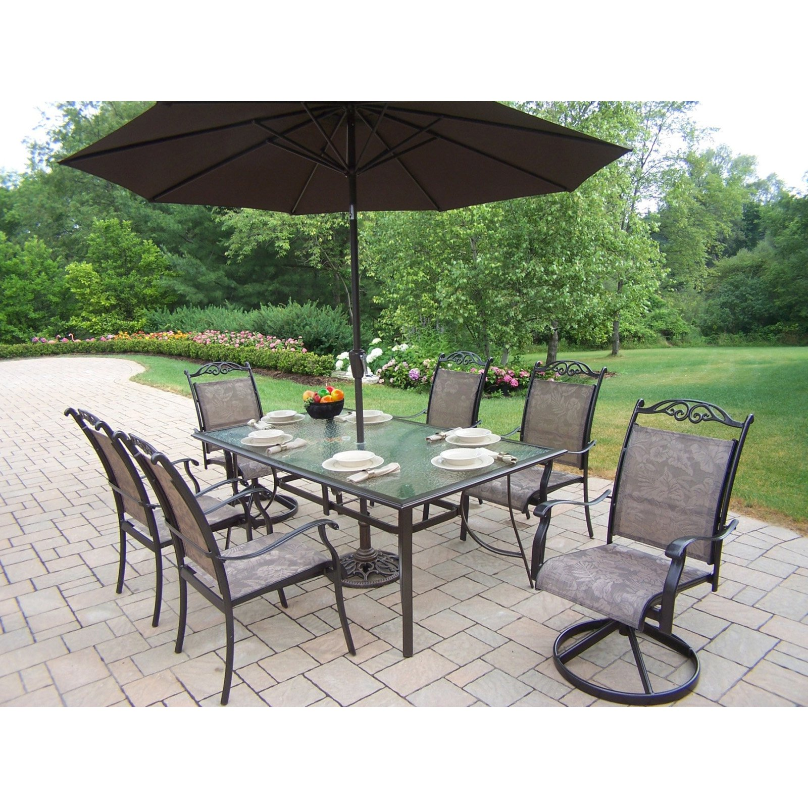 outdoor dining sets with umbrella photo - 6