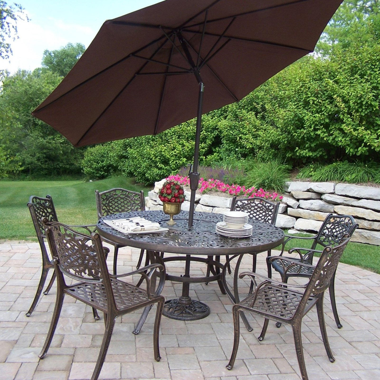 outdoor dining sets with umbrella photo - 9