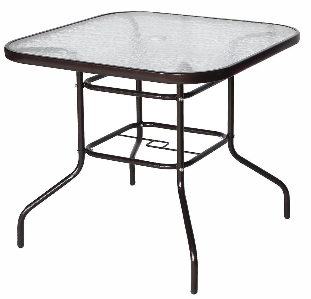outdoor dining table glass top photo - 10