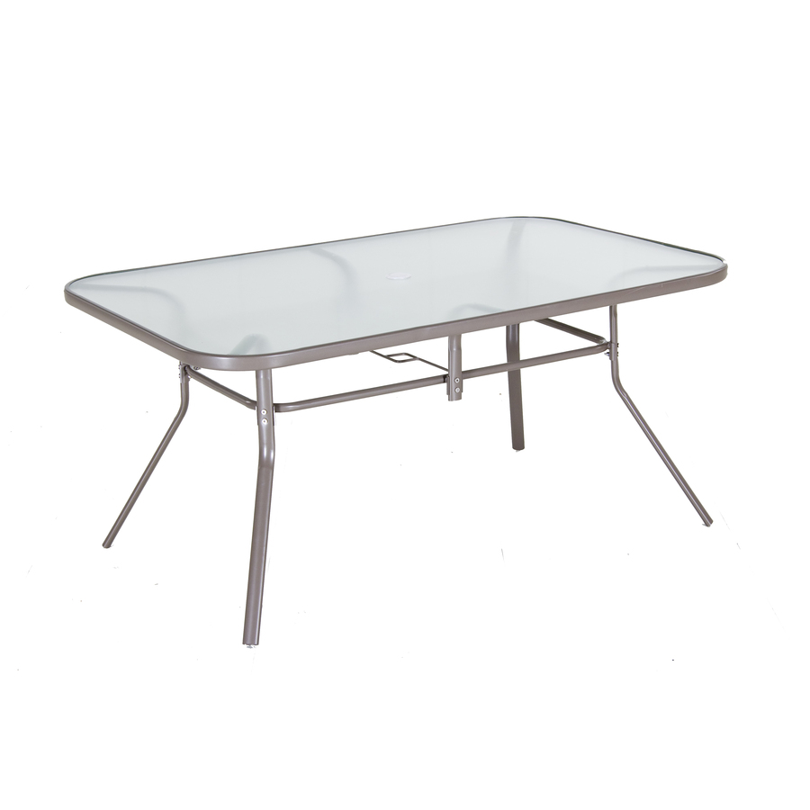 outdoor dining table glass top photo - 6