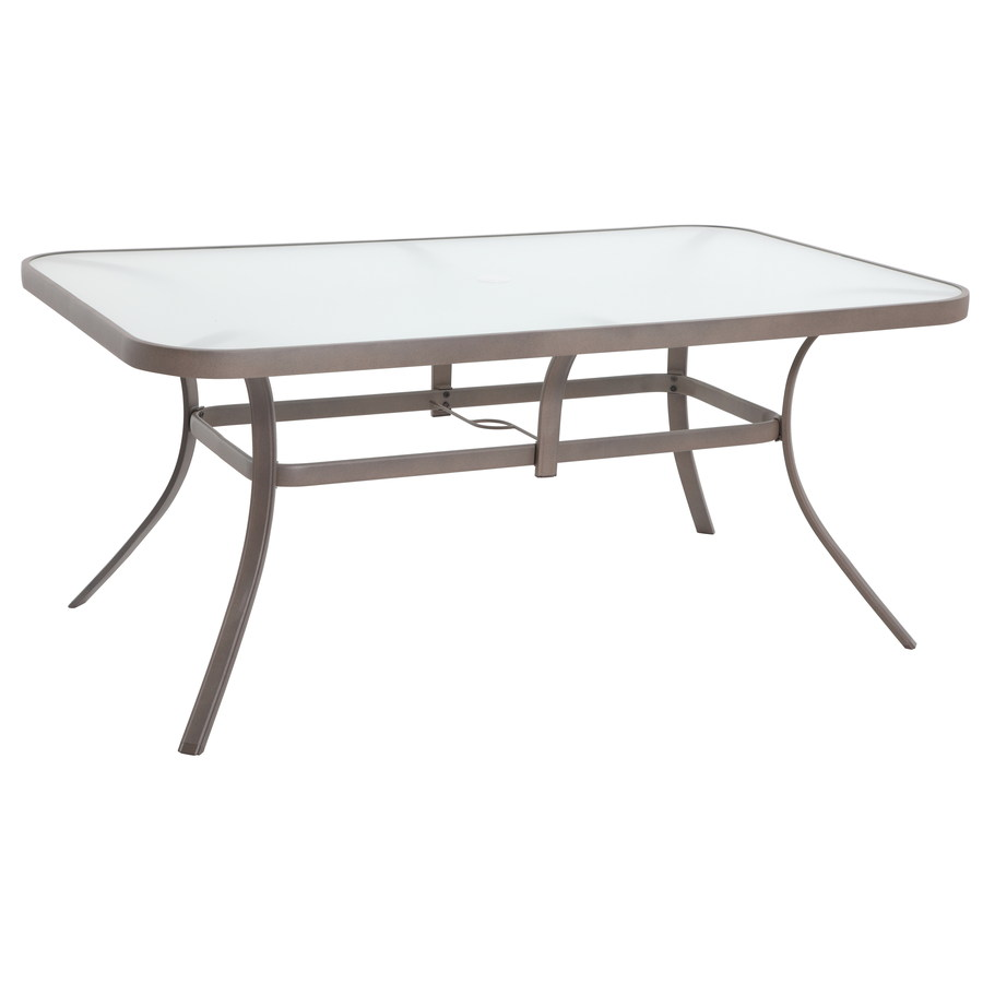 outdoor dining table glass top photo - 8