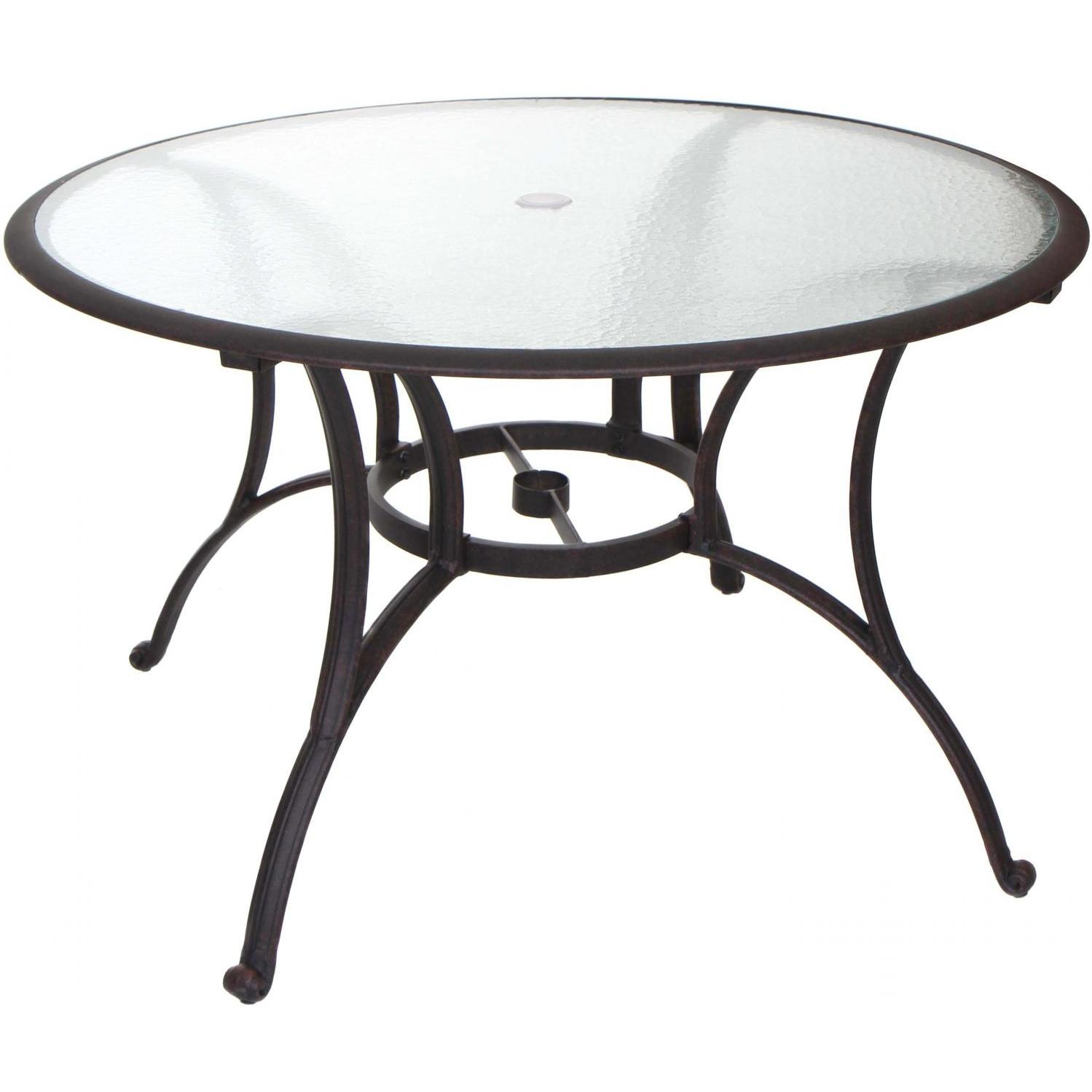 outdoor dining table glass top photo - 9