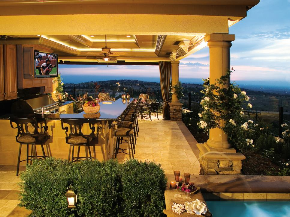 outdoor kitchen and bar designs photo - 1