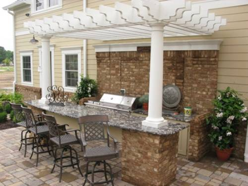 outdoor kitchen and bar designs photo - 7