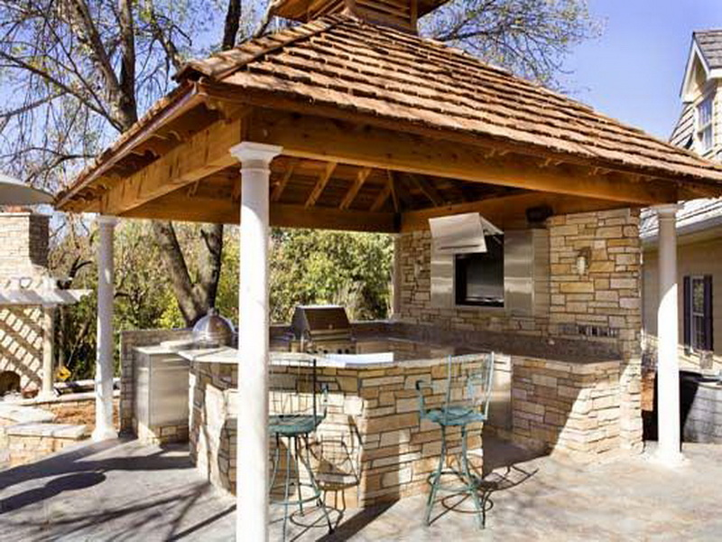 outdoor kitchen and bar designs photo - 8
