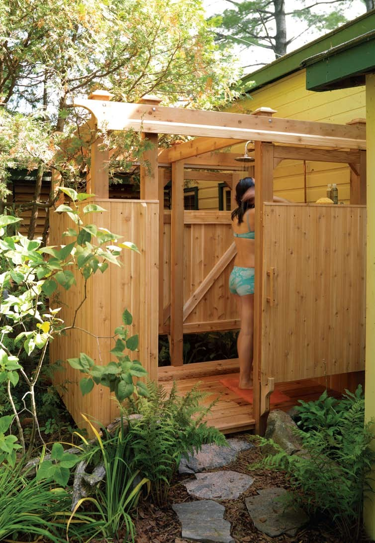 outdoor shower plans photo - 3