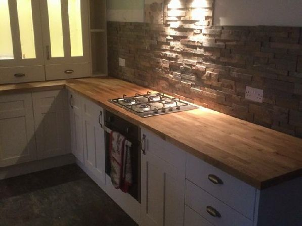 slate tiles for kitchen wall photo - 5
