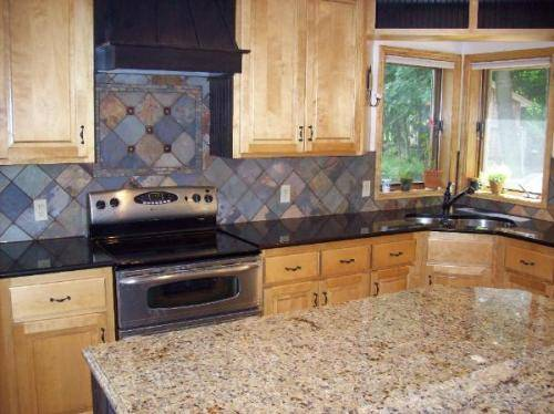 slate tiles for kitchen wall photo - 6