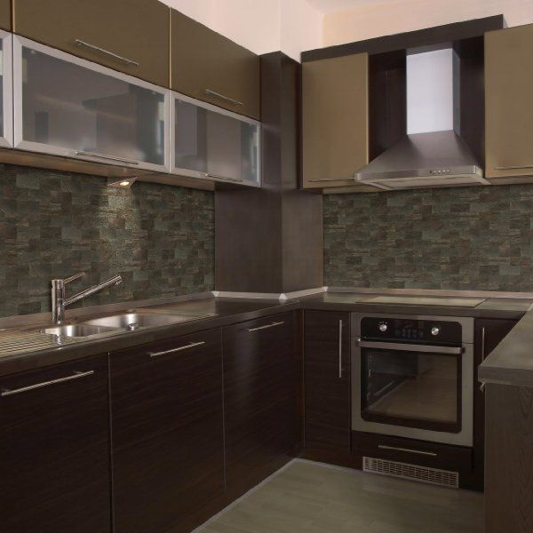 slate tiles for kitchen wall photo - 7