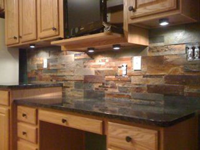 slate tiles for kitchen wall photo - 8