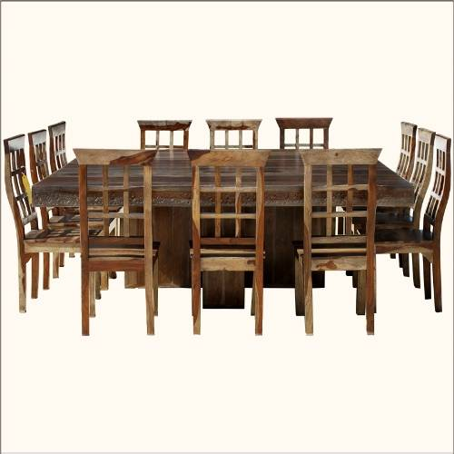 square dining table seats 12 photo - 1
