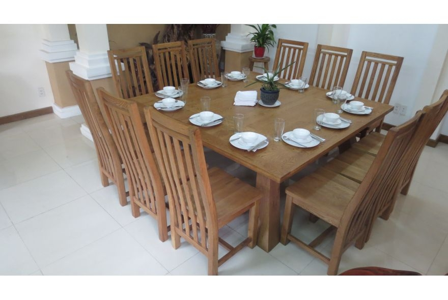 square dining table seats 12 photo - 10