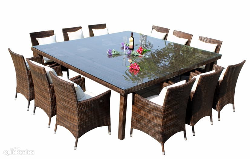 square dining table seats 12 photo - 3